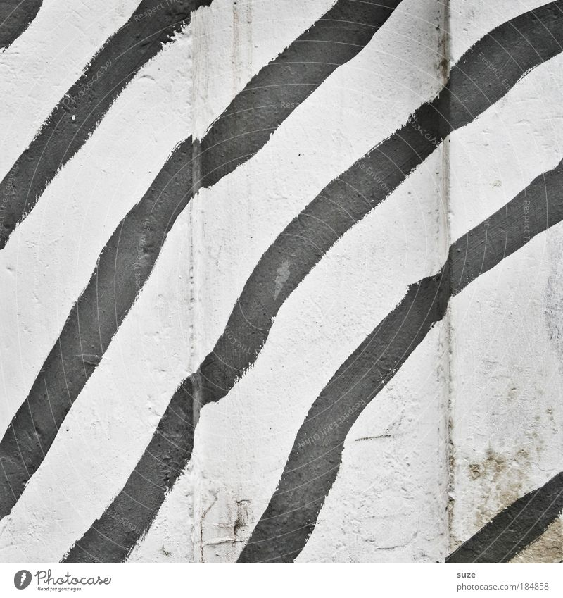 freehand Design Wall (barrier) Wall (building) Facade Line Stripe Black White Illustration Graphic Black & white photo Exterior shot Close-up Detail Abstract