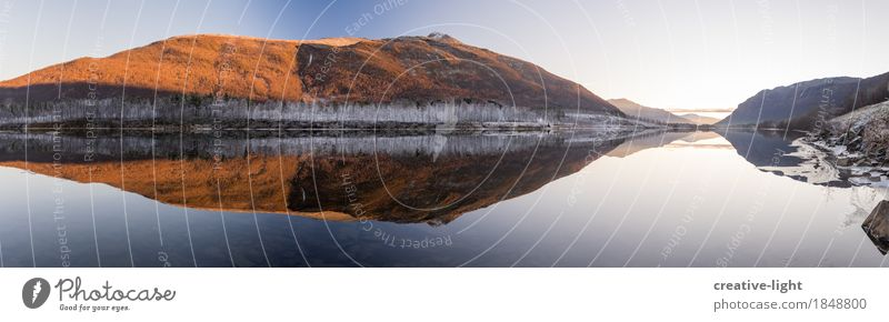 mirrors Landscape Water Sky Sun Autumn Winter Ice Frost Hill Rock Mountain Coast Lakeside Breathe Vacation & Travel Moody Contentment Trust Safety Serene