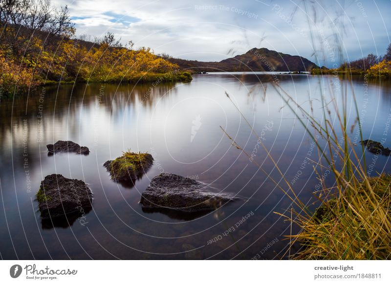 Sky Nature Plant Water Landscape Loneliness Clouds Calm Life Sadness Autumn Grass Coast Lake Moody Rock