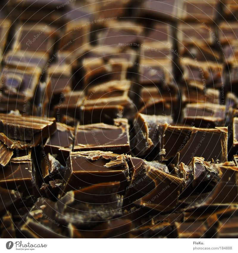 Chocolate battlefield Colour photo Interior shot Close-up Day Shallow depth of field Dessert Candy Nutrition Bakery shop confectioner Kitchen Brown Unhealthy
