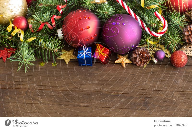 colorful christmas decorations baubles stars and pine cones a royalty free stock photo from photocase - Colorful Christmas Decorations