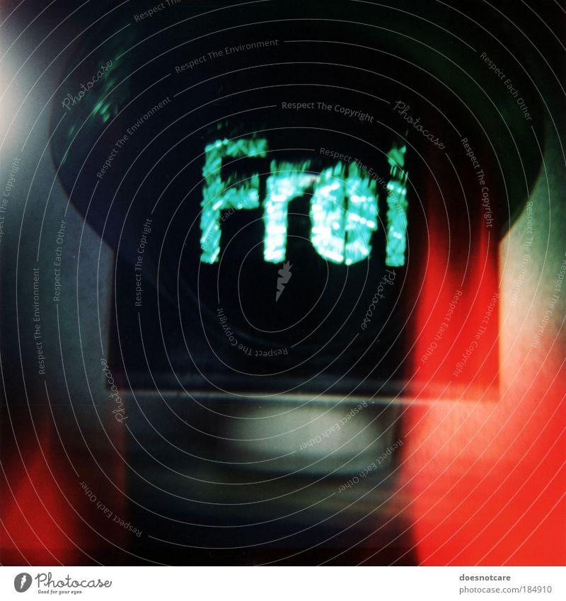 Green Red Black Freedom Free Transport Analog Blur Traffic light Road sign Medium format Road sign Film Roll film Liberation