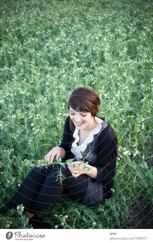 harvesters Colour photo Exterior shot Copy Space top Day Shallow depth of field Portrait photograph Downward Lifestyle Joy Happy Human being Feminine