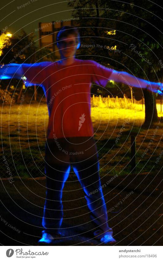 Experiment #3 Laser Light Night Dark Long exposure Human being Calm