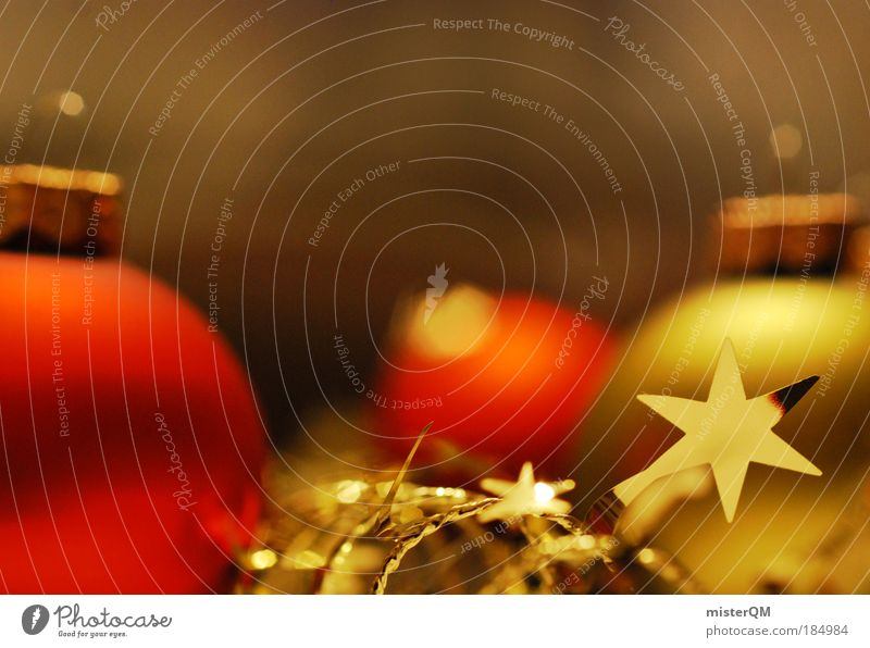 Christmas & Advent Red Winter Warmth Art Feasts & Celebrations Glittering Decoration Esthetic Gold Culture Stars Desire Jewellery Anticipation Public Holiday