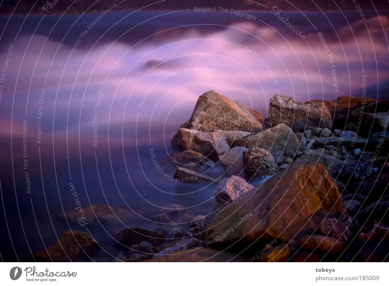 Water Beach Calm Life Cold Relaxation Stone Ice Moody Coast Waves Fog Rock River Soft Violet