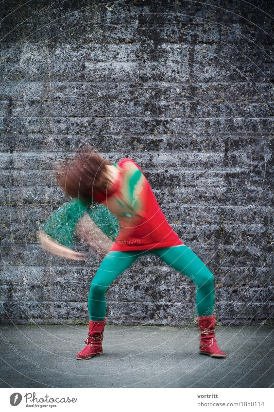 Human being Woman Green Red Adults Lifestyle Movement Feminine Wall (barrier) Fashion Contentment Music Retro Dance Energy Uniqueness