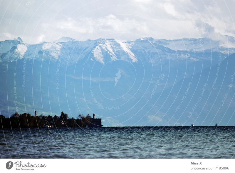 Lake Constance Vacation & Travel Tourism Far-off places Winter Winter vacation Mountain Autumn Beautiful weather Alps Snowcapped peak Coast Lakeside Large