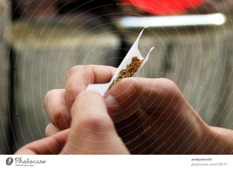 joint Joint Hand Rotate Cannabis grass