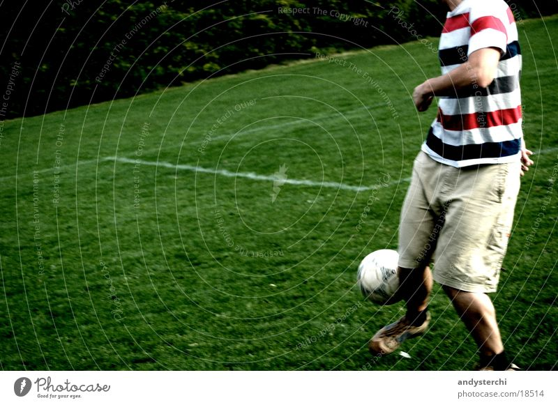 Human being Man Sports Meadow Playing Soccer Signs and labeling Places Ball T-shirt Pants Headless Ball sports Juggle