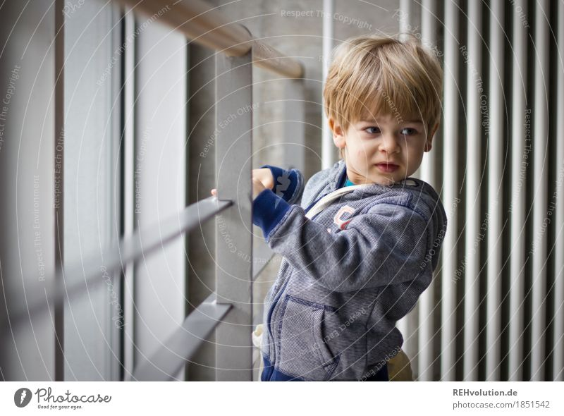 Human being Child Face Wall (building) Natural Style Boy (child) Small Wall (barrier) Gray Masculine Infancy Authentic Observe Cute Curiosity