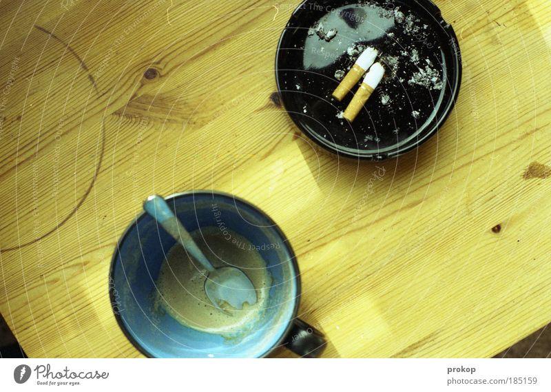 Loneliness Arrangement Table Empty Beverage Lifestyle Break Coffee Smoking Idyll Pure Joie de vivre (Vitality) Cigarette Spoon Modest Egotistical