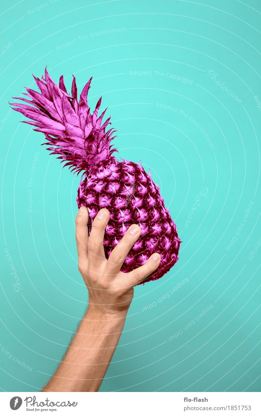 Pineapple making IV Food Fruit Organic produce Vegetarian diet Diet Lifestyle Shopping Style Design Exotic Wellness Human being Masculine Art Sculpture Media