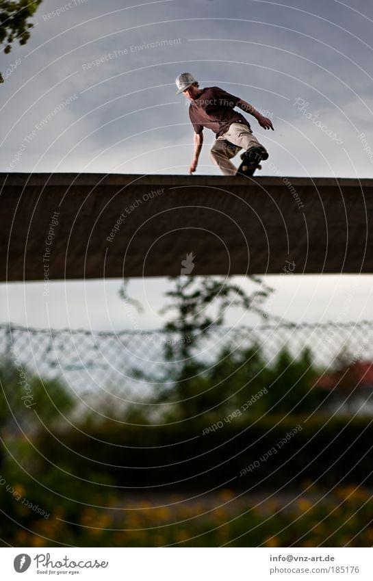 mini ramp Skateboarding Sky Sports Action Threat Fisheye miniramp Light Shadow Clouds Nerviness