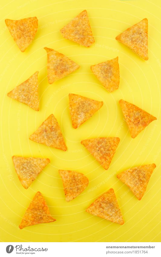 nacho nacho man Food Symmetry Snack Snackbar Unhealthy Calorie Rich in calories Yellow Yellowness Yellow-gold Yellow-orange Triangle Fast food