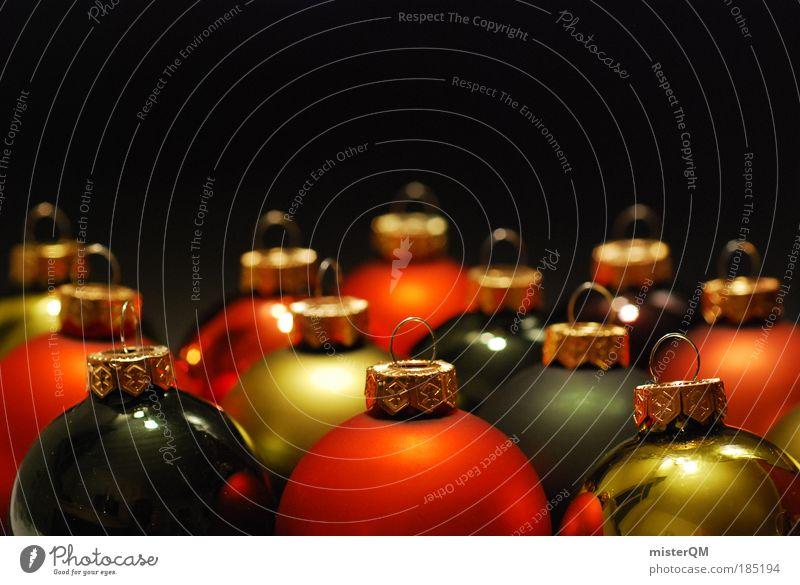 Christmas & Advent Winter Warmth Art Design Orange Decoration Esthetic Gold Culture Warm-heartedness Round Belief Attachment Tradition Sphere