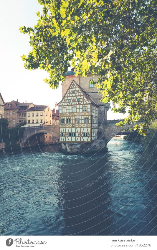 old town hall bamberg Lifestyle Shopping Luxury Vacation & Travel Tourism Trip Sightseeing City trip Upper Franconia Bamberg City hall River bank Main Town