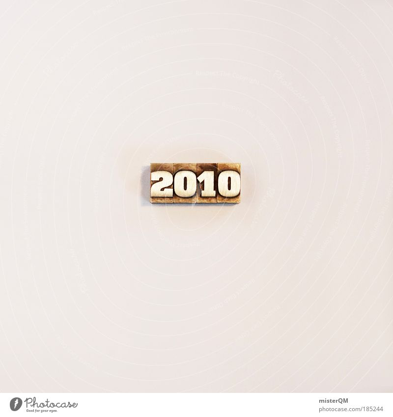 Isolated Image Esthetic Characters Digits and numbers Sign Past Typography Year Decent Minimalistic 2010 Year date Bright background