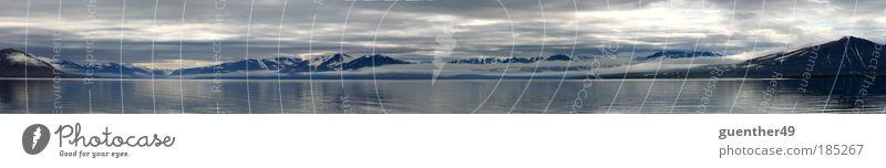Ocean Mountain Freedom Glacier Fjord Reflection Snowcapped peak