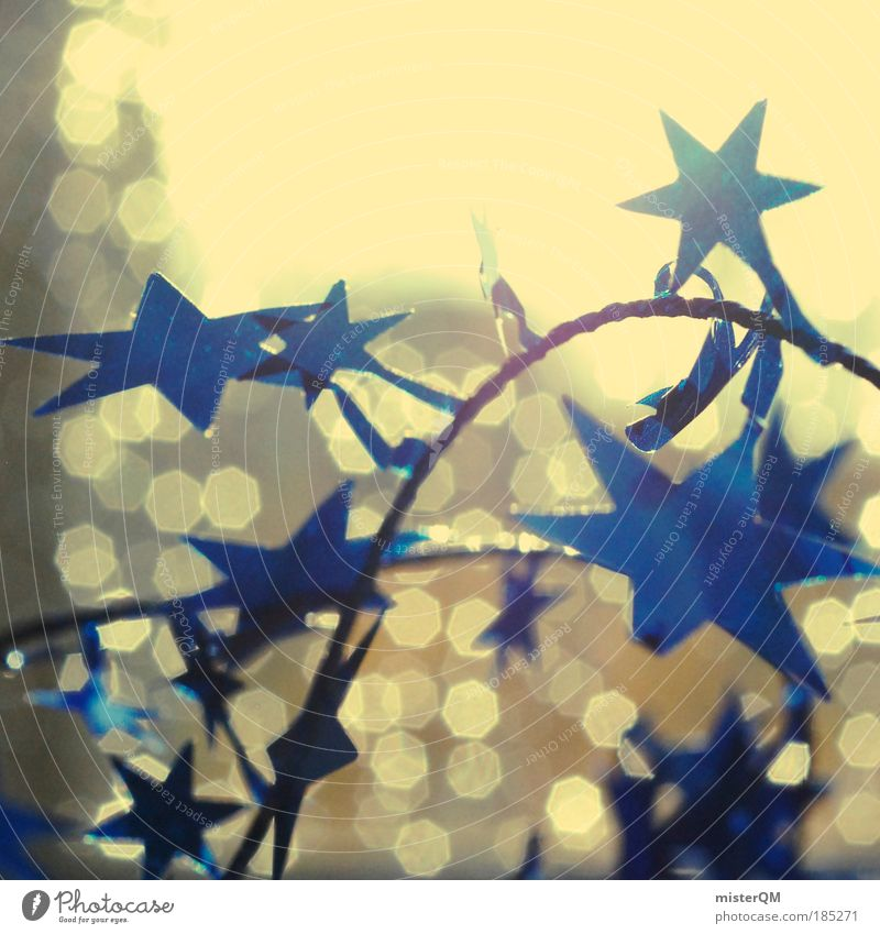 Christmas & Advent Blue Dark Bright Moody Feasts & Celebrations Art Stars Glittering Shadow Pattern Crazy Modern Esthetic Abstract
