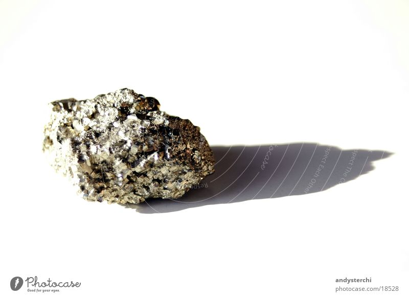 White Yellow Stone Glittering Gold Things Minerals Pyrite