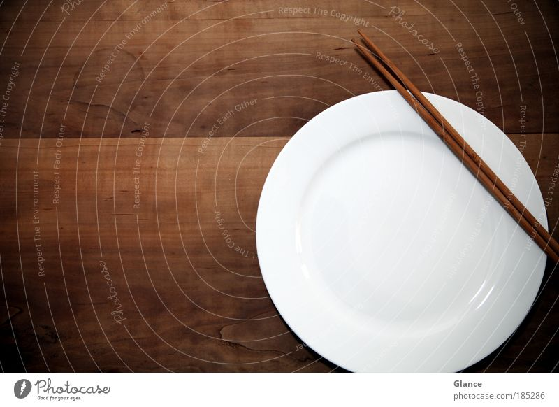 Escaped Sushi Asian Food Crockery Plate Elegant Style Design Wood Diet Feeding Wait Round Clean Brown White Caution Serene Patient Colour photo Interior shot