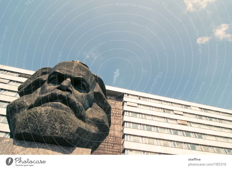 happy birthday, carl! Human being Masculine Head Facial hair 1 Chemnitz Tourist Attraction Landmark Monument Karl Marx Head Colour photo Exterior shot Day