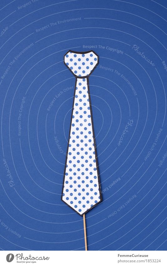 Tie_1853224 Fashion Clothing Accessory Business Apply interview Chic Elegant Masculine Spotted Blue Impaled Home-made Creativity Cardboard Paper Carnival Party
