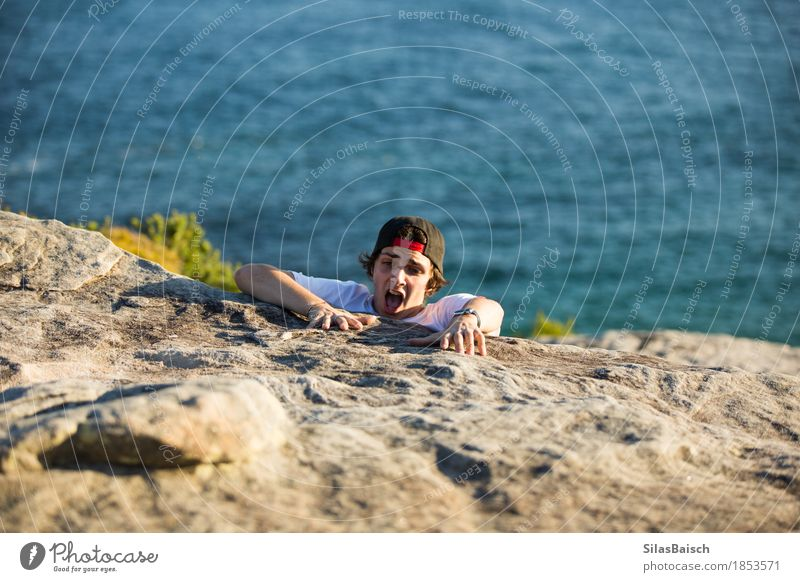 HELP NEEDED Nature Youth (Young adults) Young man 18 - 30 years Adults Life Coast Boy (child) Rock 13 - 18 years Dangerous Help Safety Protection Risk