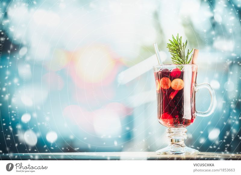 Winter and Christmas mood with mulled wine Fruit Herbs and spices Banquet Beverage Hot drink Mulled wine Cup Lifestyle Style Design Joy Feasts & Celebrations