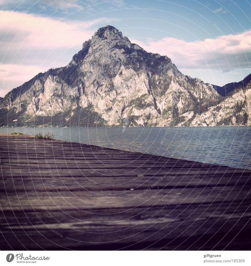 "1.691m, 47° 52' 25"" N, 13° 50' 26"" O Vacation & Travel Tourism Trip Freedom Summer Sunbathing Mountain Environment Nature Landscape Lakeside Relaxation Esthetic"