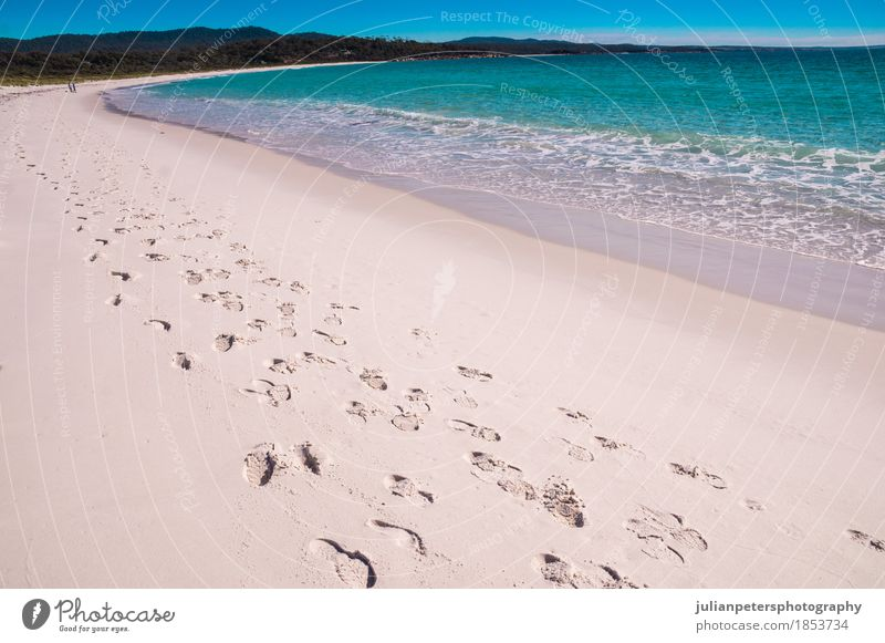 Footsteps at Bay of Fires beach, Tasmania Beautiful Vacation & Travel Summer Beach Ocean Waves Feet Nature Landscape Sand Sky Warmth Rock Coast Footwear Bright