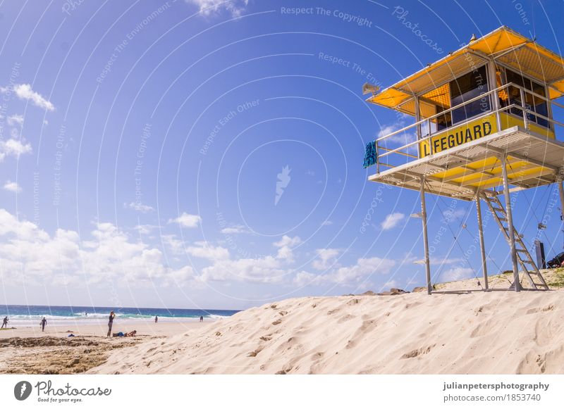 Lifeguard Tower on Beach Sky Vacation & Travel Blue Summer Beautiful Sun Ocean Landscape Relaxation Coast Sand Rock Horizon Waves