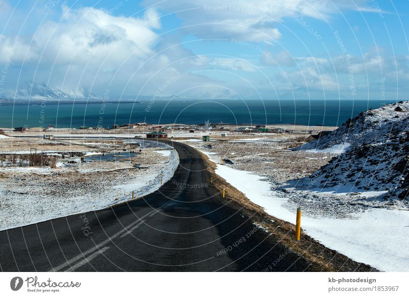 Vacation & Travel Far-off places Winter Coast Tourism Adventure Iceland Winter vacation
