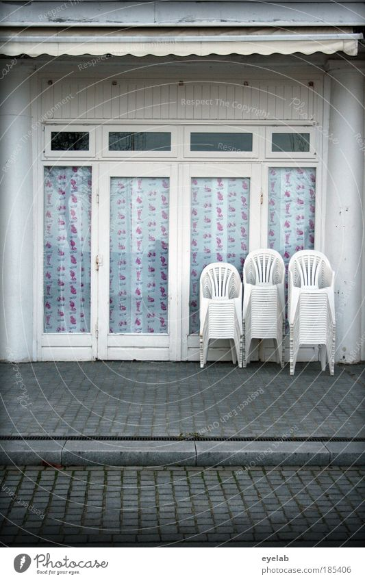 White City Loneliness House (Residential Structure) Window Cold Wall (building) Architecture Gray Wall (barrier) Building Door Facade Closed Places Roof