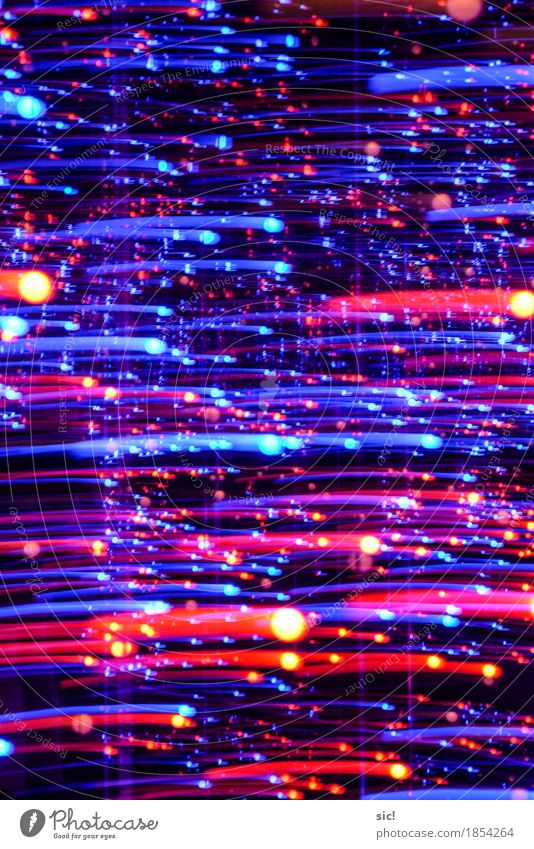 Blue Colour Red Movement Party Moody Line Design Illuminate Glittering Decoration Esthetic Creativity Stripe Curiosity Point
