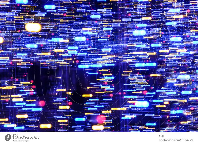 Walking Through Party Line Stripe tail Movement Glittering Illuminate Esthetic Exceptional Dark Fantastic Blue Multicoloured Yellow Emotions Happiness