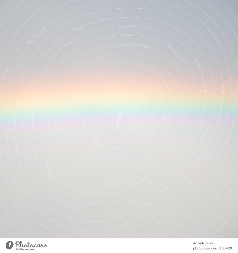 Rainbow square Nature Sky Clouds Summer Climate Weather Beautiful weather Bad weather Gray Delicate Stripe Arch Striped Covered Dream Colour photo Exterior shot