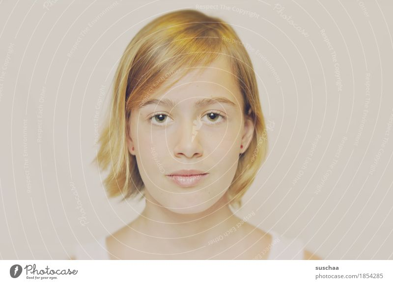 Woman Youth (Young adults) Young woman Girl Face Eyes Head Hair and hairstyles Blonde Mouth Nose Passport photograph