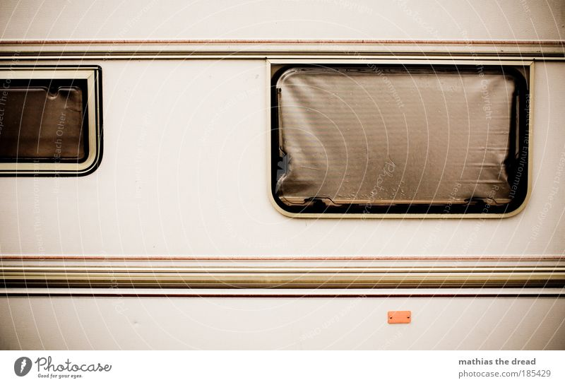 Old Vacation & Travel Dark Window Freedom Flat (apartment) Facade Dirty Tourism Living or residing Stripe Motor vehicle Camping East Road traffic Caravan
