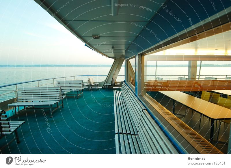 Empty run. Water Beautiful weather Lake Deserted Architecture Facade Window Means of transport Passenger traffic Navigation Inland navigation Ferry On board