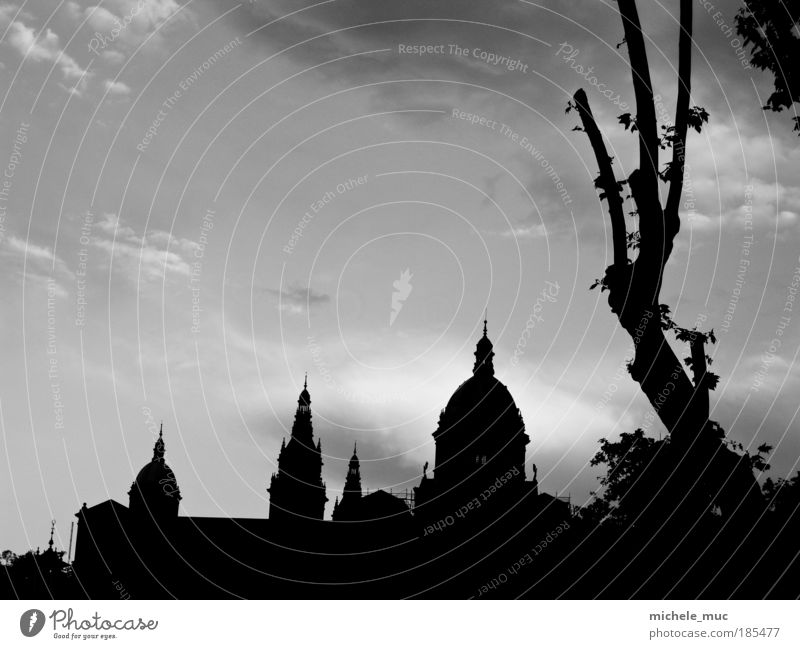 Sky White Tree Summer Vacation & Travel House (Residential Structure) Black Clouds Stone Architecture Europe Church Roof Manmade structures Spain