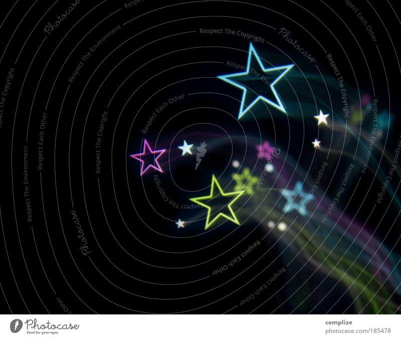 Christmas & Advent Blue Green Dye Feasts & Celebrations Pink Stars Star (Symbol) Violet New Year's Eve Club Disc jockey Sky Tails Light show