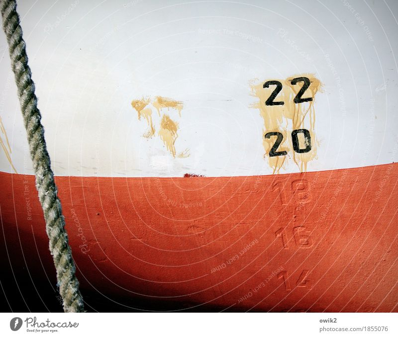 knitting instructions Fishing boat Ship's side Rope Metal Digits and numbers Hang Maritime Orange Red Black White Dye Bright Colours Daub Diagonal Puzzle