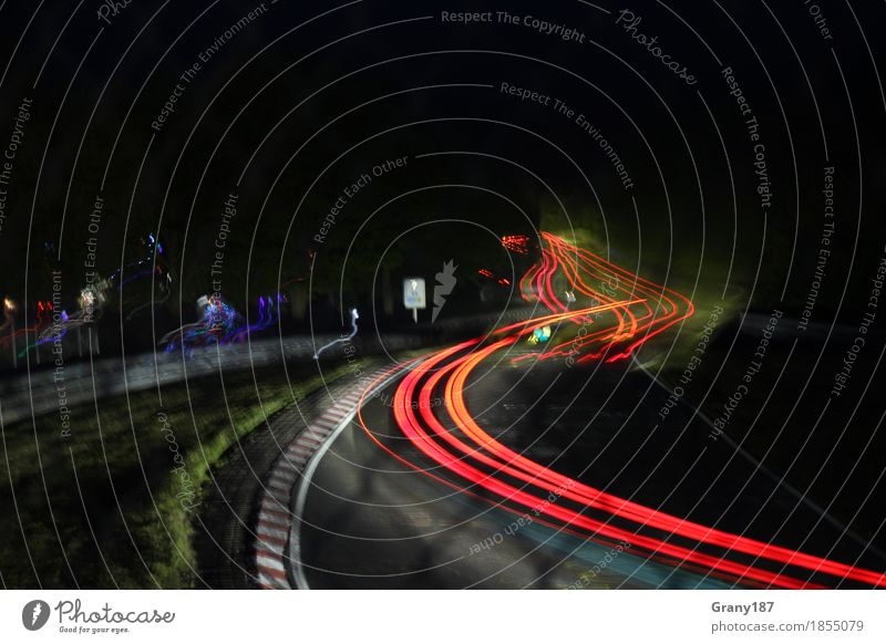 Nordschleife at Night Lifestyle Joy Happy Leisure and hobbies Motorsports Adventure Freedom Summer Night life Racecourse Motoring Highway Sports car Discover