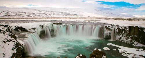 Nature Vacation & Travel Landscape Winter Tourism Europe Adventure River Iceland Sightseeing Waterfall Godafoss