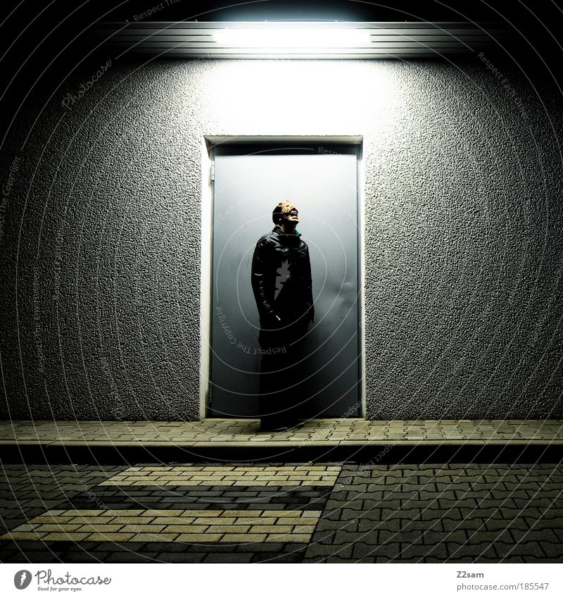 CATWALK Masculine Industrial plant Door Jacket Accessory Communicate Stand Esthetic Exceptional Cool (slang) Dark Creepy Uniqueness Rebellious Trashy