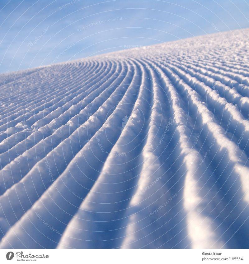 Vacation & Travel Landscape Winter Mountain Snow Tourism Arrangement Fresh Esthetic Transience Stripe Pattern Surface Furrow Parallel Precision