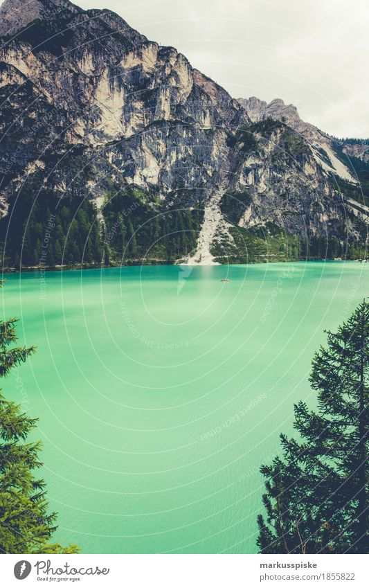 Braies Wild Lake Athletic Fitness Harmonious Leisure and hobbies Vacation & Travel Tourism Trip Adventure Far-off places Freedom Expedition Summer Mountain