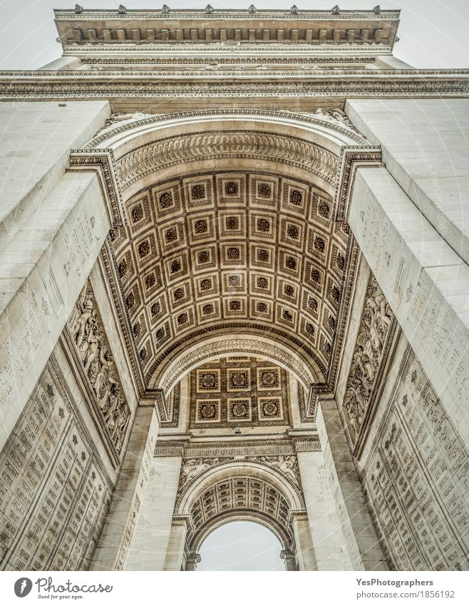 Arc de Triomphe interior details Design Vacation & Travel Tourism Work of art Culture Manmade structures Building Architecture Tourist Attraction Landmark